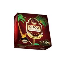 Coco Star Lite is another one of our brands. This charcoal is new and improved and made of only coconuts! It has a great calorific value and the lowest ash content!