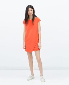 Image 1 of DRESS WITH POINTED SKIRT from Zara