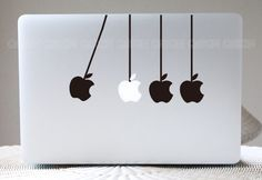 """Macbook sticker laptop  Decal macbook sticker macbook pro by Qskin, $8.99  I used to love playing with these """"executive desk toys"""" on my father's colleagues' desks when I was a kid."""