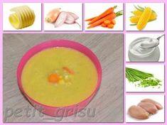 Kukuřičný krém s mrkví a kuřecím masem (7-8m) Pudding, Fruit, Desserts, Food, Tailgate Desserts, Deserts, Custard Pudding, Essen, Puddings