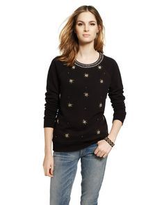 French Terry Jeweled Pullover - Jackets - Juicy Couture