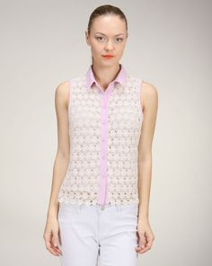 Lilac and Lace Top
