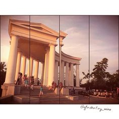 The Colonnade in #Odessa. #Ukraine #art #architecture #monument #sculpture #odessa #sunset #ukraine #одесса #украина #закат