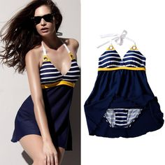 Find More One Pieces Information about New Sexy Stripe Plus Size Padded Navy Blue Halter Skirt Swimwear Women One Piece Swimsuit Beachwear Bathing Suit Free Shipping,High Quality swimwear briefs,China swimwear racing Suppliers, Cheap swimwear purple from swimsuit on Aliexpress.com