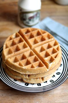 Cardamom Sourdough Waffles