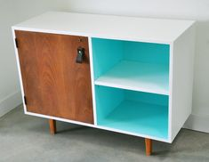 mid-century modern cabinet before and after