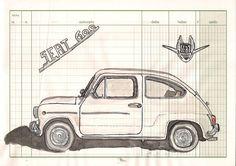 dibujos de seat 600 - Cerca amb Google