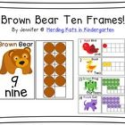Brown Bear themed ten frame pack. This set has images that would go great with a Brown Bear, Brown Bear unit.  This set features large cards that h...