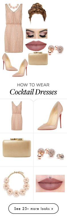 """""""sweet"""" by kimba515 on Polyvore featuring Adrianna Papell, Christian Louboutin, Kayu, J.Crew, GUESS, women's clothing, women's fashion, women, female and woman"""