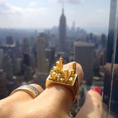 New York Gold Ring at New York City. // Cristina Ramella Jewelry
