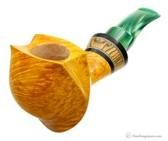 New Tobacco Pipes: Daniel Mustran Smooth Elephant's Foot with Black and White Ebony at Smokingpipes.com