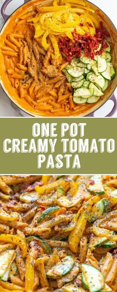 recipes cheap Creamy Tomato One Pot Pasta- this vegan dinner is so ridiculously easy to throw . Creamy Tomato One Pot Pasta- this vegan dinner is so ridiculously easy to throw together and your new favorite weeknight meal Easy Vegan Dinner, Vegan Dinner Recipes, Vegan Dinners, Vegan Recipes Easy, Whole Food Recipes, Vegetarian Recipes, Easy Vegan Meals, Breakfast Recipes, Creamy Tomato Pasta