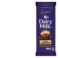 Cadbury Chocolate Block Dairy Milk Salted Caramel Cadbury Chocolate, Online Supermarket, Coffee Cans, Free Food, Caramel, Dairy, Milk, Recipes, Sticky Toffee