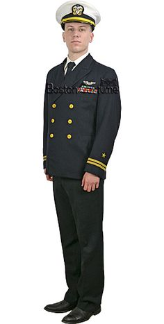e2e8df0c46a A rental Service Dress Blue uniform for a Naval officer.