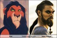 Scar Totally Looks Like Khal Drogo!! HAHAHA
