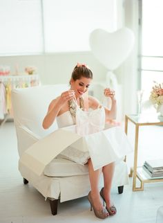 pretty lingerie is the perfect gift for the Bride  Photography: Liz Banfield - lizbanfield.com Styling + Design: Whitepeacock Styled Events - whitepeacockevents.com Styling + Design: Girl Friday - girlfridaystyling.com  View entire slideshow: Bridal Shower Details on http://www.stylemepretty.com/collection/464/