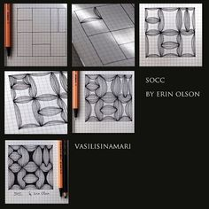 Socc - Step by Step Zentangle Pattern