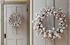 Our Cotton Wreath is made from natural cotton steams and flowers. Hang this Cotton Boll Wreath on a door or use it as a candle ring on a tabletop! For more visit, www.decorsteals.com OR www.facebook.com/DecorSteals.