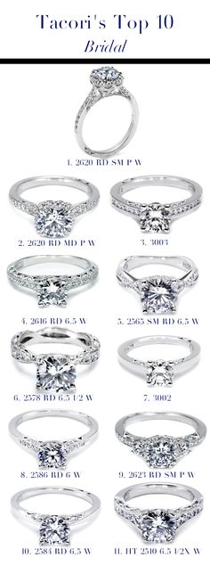 Arthur's Jewelers: Tacori's Top 10 Bridal Engagement Rings