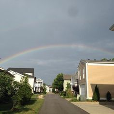 Rainbow over the alley shared by Shawna B. #rainbow #nortoncommons