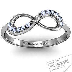 Infinity Accent Ring #jewlr sooo pretty!