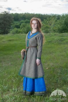 "Viking Woolen Coat ""Ingrid"" https://armstreet.com/store/medieval-clothing/viking-coat-kaftan-ingrid"