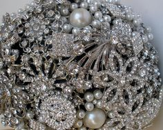 Old School Glamour Bouquet of Czech diamante by contrastandform, $570.00