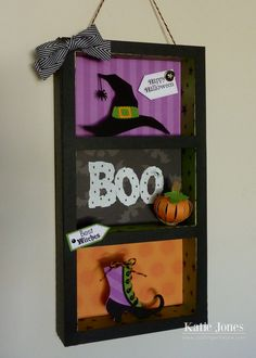 Crafting with Katie: adorable shadow box made using Silhouette and Lori Whitlock designs