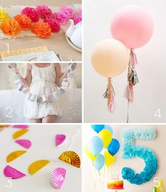 Awesome DIY decoration ideas for birthday parties!