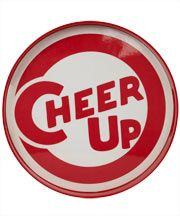 Fishs Eddy - Red Cheer Up Lacquer tray from Liberty London