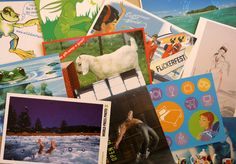 Story cards.  A box full of interesting images to enable storytelling and dialogue.