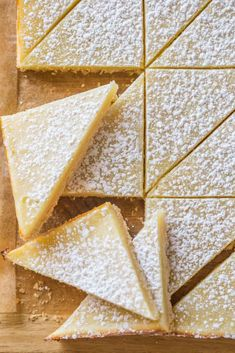 This recipe for Swedish Lemon Bars is the perfect lemon bar recipe! The crust is buttery and flakey, and the lemon custard is sweet, tart, and smooth. Dark Chocolate Cakes, Chocolate Butter, Lemon Recipes, Sweet Recipes, Fresh Strawberry Pie, Lemon Custard, Peanut Butter Sauce, Lemon Sorbet, Lemon Squares