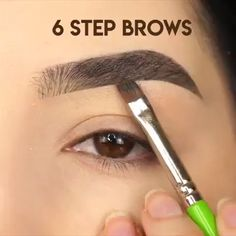 Augenbrauen Make-up Tutorial! - Make-Up Video Tutorials! - Make Up Eyebrow Makeup Tips, Makeup Eye Looks, Eye Makeup Tips, Makeup Goals, Makeup Videos, Skin Makeup, Eyeshadow Makeup, Beauty Makeup, Makeup Eyebrows