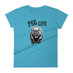 Women's Pug Life Short Sleeve Tshirt