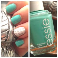 Summer nails #turquoise #nails #essie