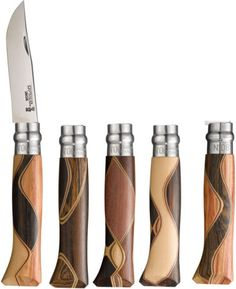 Opinel No. 06 Bruno Chaperon Knife African Wood Handle Design May Differ 001400