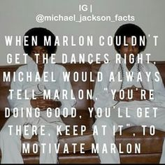 Michael is just too sweet! So cute, motivating his brother! <3