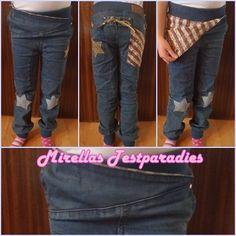 """Coole Mädchen Jeans """"Starish"""" mit Nieten und Sternpatches aus dem Onlineshop Vicious Wear."""