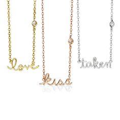 These Beauniq necklaces speak volumes.