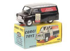 Mettoy Corgi diecast No.421 Bedford Evening Standard Van 1960-63