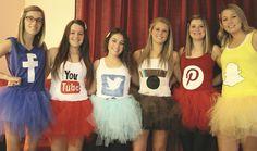 Halloween costumes, social network (facebook, youtube, twitter, instagram, pinterest, snapchat)