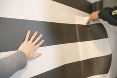 Removable peel-and-stick wallpaper--how-to by House Tweaking