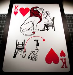 2 feet tall paper-cut playing card. The Sawdust deck. www.emmanueljose.com Jack Of Hearts, King Of Hearts, Jokers Wild, Playing Cards Art, Ap Studio Art, Card Drawing, Card Tricks, Art Studios, Paper Cutting