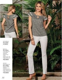 Dominio / Campaña 14 - 15 / 2017 Casual Outfits, Fashion Outfits, Womens Fashion, Moda Chic, Sweater Skirt, Spring Looks, Casual Chic, Shirt Blouses, Blouse Designs