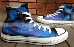 #Galaxy Shoes Galaxy Hand Painted Shoes