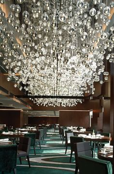 Bocci at the Mira Hotel Hong Kong .The magic that can be created with quantity -- that the client was prepared to apy for!