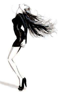 Fashion illustration - stylish fashion sketch // Erin Whitty