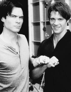 Ian Somerhalder & Steven R. Mcqueen. Love vampire diaries.