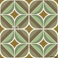 Seamless retro brown and olive background pattern