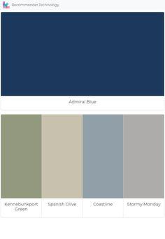 Admiral Blue: Kennebunkport Green, Spanish Olive, Coastline, Stormy Monday